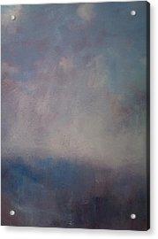 Twilight Mist Over The Arreton Valley Acrylic Print by Alan Daysh