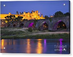 Twilight Over Carcassonne Acrylic Print by Brian Jannsen