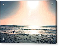 Twilight Surf Acrylic Print by Coconut Lime Design