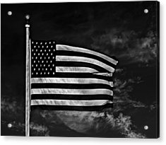 Twilight's Last Gleaming Bw Acrylic Print by David Dehner