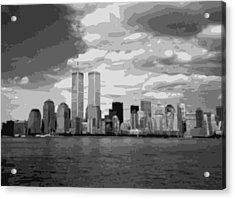 Twin Towers Bw10 Acrylic Print by Scott Kelley