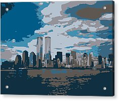 Twin Towers Color 7 Acrylic Print by Scott Kelley