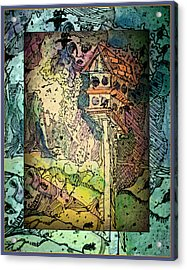 Twittering Muses Acrylic Print by Mindy Newman
