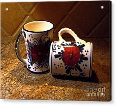 Two Cups Acrylic Print by Dale   Ford