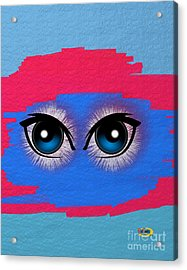 Two Eyes Acrylic Print by Rod Seeley