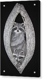 Two In A Tree Acrylic Print by Janet Knocke