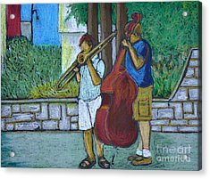Two Musicians Acrylic Print by Reb Frost