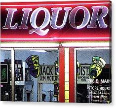 Two Sides Of Booze Acrylic Print by Joe Jake Pratt