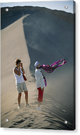 Two Tourist Are Transfixed Acrylic Print by Joel Sartore
