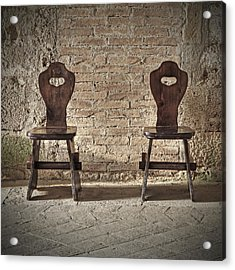 Two Wooden Chairs Acrylic Print by Joana Kruse