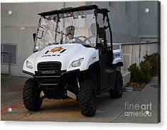 Uc Berkeley Campus Police Buggy  . 7d10184 Acrylic Print by Wingsdomain Art and Photography