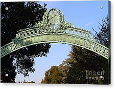 Uc Berkeley . Sproul Plaza . Sather Gate . 7d10031 Acrylic Print by Wingsdomain Art and Photography