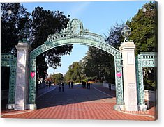 Uc Berkeley . Sproul Plaza . Sather Gate . 7d10033 Acrylic Print by Wingsdomain Art and Photography