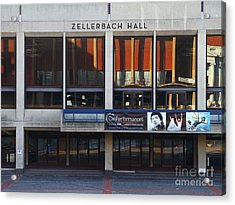 Uc Berkeley . Zellerbach Hall . 7d9989 Acrylic Print by Wingsdomain Art and Photography