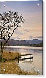 Ullswater Fence Acrylic Print by John Ormerod