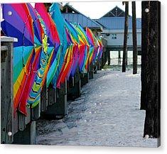 Umbrellas Acrylic Print by Shweta Singh