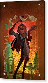 Un Hombre Acrylic Print by Nelson Dedos Garcia