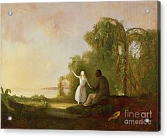 Uncle Tom And Little Eva Acrylic Print by Robert Scott Duncanson
