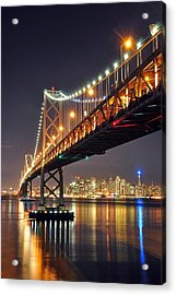 Under The Bay Bridge Acrylic Print by Jessie Dickson