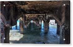 Under The Boardwalk Acrylic Print by James Roemmling