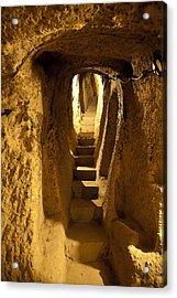 Underground Caves Derinkuyu Acrylic Print by Kantilal Patel