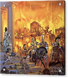 Unidentified Roman Attack Acrylic Print by Angus McBride