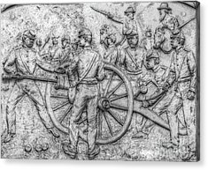 Union Artillery Civil War Drawing Acrylic Print by Randy Steele
