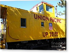 Union Pacific Caboose - 5d19205 Acrylic Print by Wingsdomain Art and Photography