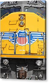 Union Pacific Locomotive Train - 5d18645 Acrylic Print by Wingsdomain Art and Photography