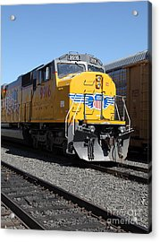 Union Pacific Locomotive Trains . 5d18821 Acrylic Print by Wingsdomain Art and Photography
