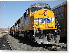 Union Pacific Locomotive Trains . 5d18824 Acrylic Print by Wingsdomain Art and Photography