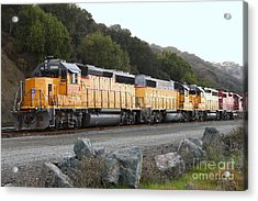 Union Pacific Locomotive Trains . 7d10565 Acrylic Print by Wingsdomain Art and Photography