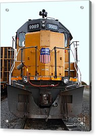 Union Pacific Locomotive Trains . 7d10589 Acrylic Print by Wingsdomain Art and Photography