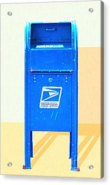 United States Postal Service Mail Box . Snail Mail Acrylic Print by Wingsdomain Art and Photography