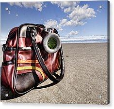 Urban Beach Acrylic Print by Gabriel Calahorra