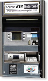 Urban Fabric . Automatic Teller Machine . 7d14178 Acrylic Print by Wingsdomain Art and Photography