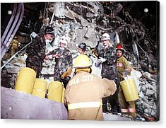 Us Air Force Personnel Work Alongside Acrylic Print by Everett