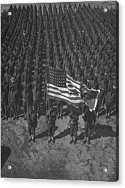 U.s. Army 41st Engineers On Parade Acrylic Print by Everett