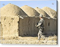U.s. Army Soldier Conducts A Dismounted Acrylic Print by Stocktrek Images