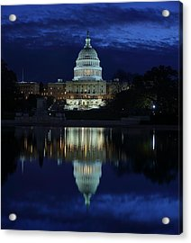 Us Capitol - Pre-dawn Getting Ready Acrylic Print by Metro DC Photography