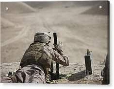 U.s. Marine Clears A Pk General-purpose Acrylic Print by Terry Moore