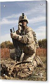U.s. Marine Communicates Acrylic Print by Stocktrek Images