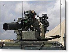 U.s Marine Looks Through A Sight Acrylic Print by Stocktrek Images