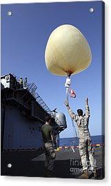 U.s. Marines Launch A Combat Skysat Acrylic Print by Stocktrek Images