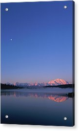 Usa, Alaska, Mount Mckinley As Seen From Wonder Lake After Sunrise Acrylic Print by Paul Souders