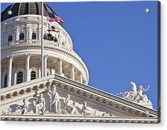 Usa, California, Sacramento, California State Capitol Building Acrylic Print by Bryan Mullennix