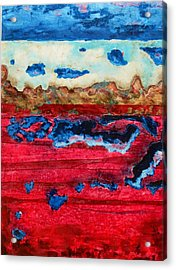 Usa In Decay Acrylic Print by David Raderstorf
