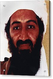 Usama Bin Laden Also Spelled, Osama Bin Acrylic Print by Everett