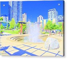 Utopian City Acrylic Print by Randall Weidner