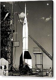 V-2 Bumper Rocket Launch In Usa Acrylic Print by Detlev Van Ravenswaay